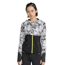 zoano佐纳 运动两件套夹克女 印花拉链连帽外套秋冬跑步健身上衣