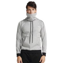 zoano佐纳 运动卫衣男士 跑步健身户外长袖连帽套头衫 时尚围脖领
