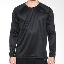 adidas阿迪达斯卫衣男2017秋季运动速干训练长袖T恤套头衫BK0975