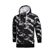 李宁卫衣男士2017新款漫威系列开衫长袖外套连帽上衣男装运动服AWDM509