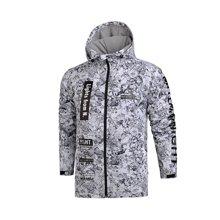 李宁风衣男士运动时尚系列防风服连帽外套保暖运动服AFDM237