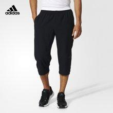 Adidas/阿迪达斯 男子运动训练涤纶七分裤 BK0982