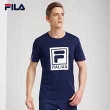 FILA/斐乐 大LOGO透气男子短袖T恤 25723158