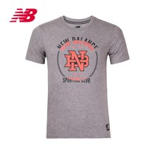 New Balance/新百伦 圆领休闲短袖男子T恤 AMT71605