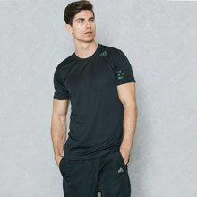 Adidas阿迪达斯2017夏季男子运动透气速干训练圆领短袖T恤BK6120