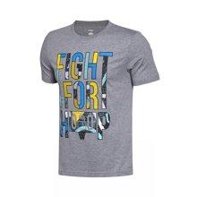 李宁短袖T恤男士篮球系列吸湿纯棉运动服AHSM191