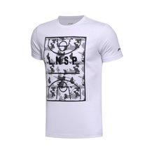 李宁短袖T恤男士2017新款运动生活系列速干迷彩凉爽夏季运动服AHSM273