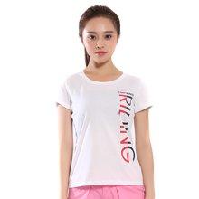 德尔惠t恤新款2017夏季女装时尚运动服圆领印花休闲短袖T恤夏62620123