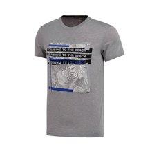 李宁短袖T恤男士训练系列吸汗舒适运动衣潮流运动服AHSM155