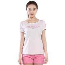 德尔惠官方正品2017年夏季新款韩范运动T恤女夏短袖透气圆领T恤 72620166