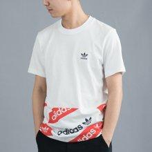 Adidas/阿迪达斯 三叶草男子圆领短袖T恤 BQ0910