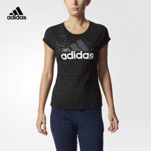 Adidas/阿迪达斯 女子运动型格短袖T恤 BK5072