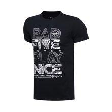 李宁短袖T恤男士BAD FIVE系列篮球系列纯棉圆领修身运动服AHSL279