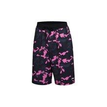 李宁男装篮球比赛裤BAD FIVE男士篮球裤宽松迷彩运动短裤AAPM059
