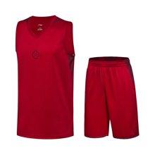 李宁篮球比赛套装男士2017新款韦德系列速干凉爽篮球服运动服AATM027