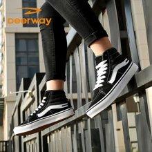 运动休闲鞋板鞋男冬季滑板鞋情侣鞋学生韩版高帮帆布鞋潮男鞋女鞋T21813367