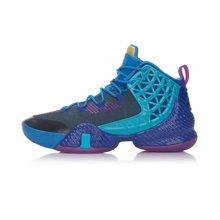 李宁篮球鞋男鞋篮球系列空袭III问鼎李宁云扭转系统一体织运动鞋ABAM009