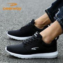德尔惠男跑鞋运动鞋跑步鞋秋季新款鞋耐磨震学生休闲慢跑鞋旅游鞋T23713347