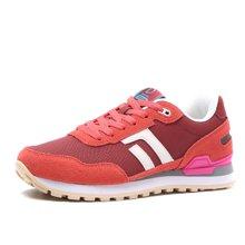德尔惠 女式 运动生活系列透气系带复古跑步鞋T74624510