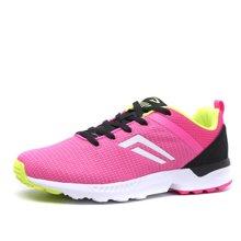 德尔惠女鞋2017年春季新款运动跑步鞋女士透气网面休闲舒适慢跑鞋23623651