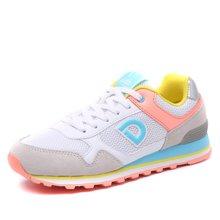德尔惠女鞋春季运动鞋女透气轻便跑步鞋复古慢跑鞋休闲鞋女旅游鞋T72624540