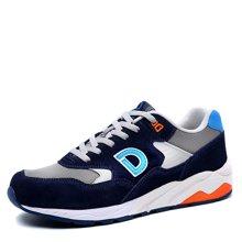 德尔惠运动鞋男春季新款跑步鞋透气男鞋复古慢跑鞋潮旅游男跑鞋T73614523