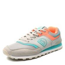德尔惠女鞋2017运动鞋女春季跑步鞋复古慢跑鞋新款休闲旅游鞋正品T71624522