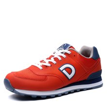 德尔惠男鞋春季新款网面透气跑步鞋男运动鞋男复古跑鞋小白鞋T72614515