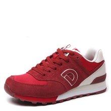 德尔惠男鞋运动鞋复古跑步鞋慢跑鞋休闲春季旅游鞋男子网布T74614505