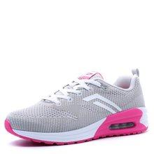 德尔惠女鞋2017春季跑步鞋女气垫运动鞋轻便跑鞋透气旅游鞋正品21623558