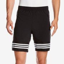 Adidas阿迪达斯男裤2017夏休闲透气速干跑步五分裤运动短裤BK3252