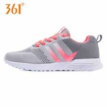 361度女鞋运动鞋2017夏季新款针织透气网面休闲舒适跑步鞋