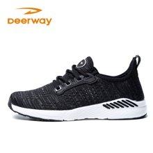 德尔惠女鞋新款跑步鞋夏季透气运动鞋女子休闲旅游鞋学生飞织跑鞋T22813373