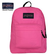 专柜正品JanSport T501 9SA SuperBreak双肩包包女背包书包胭脂粉