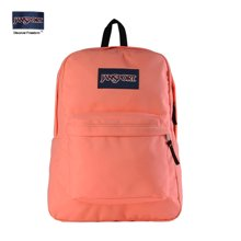 专柜正品JanSport T501 9SA SuperBreak双肩包包女背包书包胭脂粉