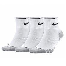 NIKE耐克男袜2017秋季透气速干运动袜子中筒短袜SX6941-100三双装