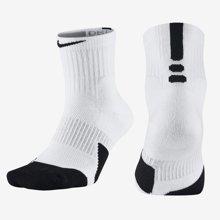 NIKE耐克男袜2017中帮透气男子运动袜中筒篮球袜子短袜SX5594-100