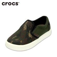 Crocs/卡骆驰 花纹儿童休闲平底帆布便鞋 203753