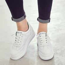 乐嘉途女鞋新款韩版小白鞋女厚底内增高运动鞋百搭学生板鞋女鞋X202-105