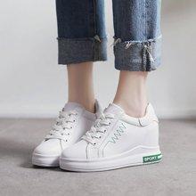 乐嘉途女鞋秋季新款内增高7cm小白鞋女板鞋少女运动休闲鞋潮女鞋子X820-792