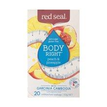 【3盒装】新西兰Red Seal红印纤体茶 菠萝蜜桃20包(50g)
