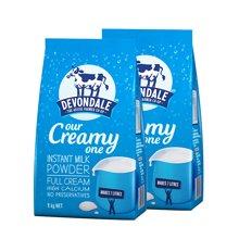 Devondale/德运奶粉 调制乳粉全脂成人奶粉澳洲进口1kg*2袋