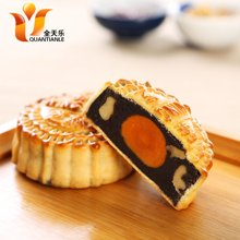 元朗荣华蛋黄芝麻核桃红豆月饼500g125克*4枚广东特产广式月饼