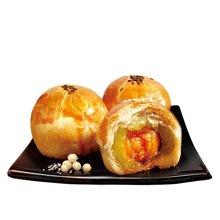 麦轩蛋黄酥月饼62.5克*3枚简装广式糕点