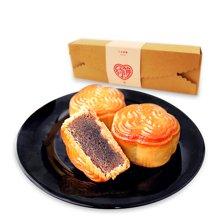 喜利达 情长长约饼三枚装共150g 传统手工中秋月饼馅饼零食茶点糕点小吃送礼