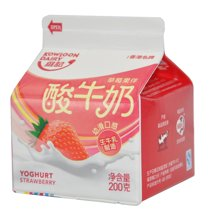 九龙维记草莓味酸牛奶 12盒*200g