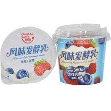 九龙维记组装草莓+蓝莓发酵乳 12杯*120g