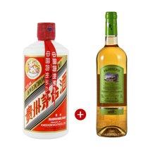 【组合双支装】品悦 茅台(2017)1瓶+金棕榈优级格拉芙白葡萄酒1瓶(750ml)