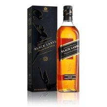 英国尊尼获加苏格兰威士忌 Johnnie Walker 洋酒烈酒 黑牌 黑方威士忌 700ml750ml随机