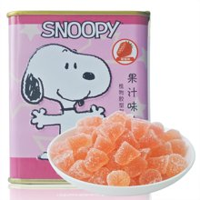 国际品牌授权史努比橡皮糖草莓味80g进口零食休闲甜正品铁盒装